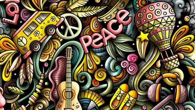 Paisagem hippie