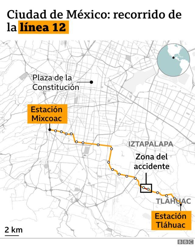 Mapa linea 12