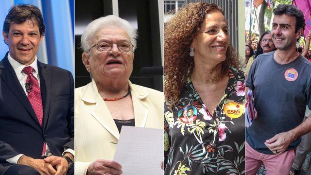 Fernando Haddad, Luiza Erundina, Jandira Feghali e Marcelo Freixo