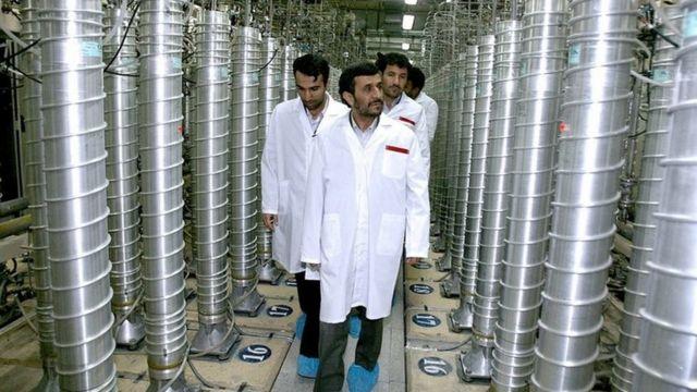 احمدی نژاد در نطنز
