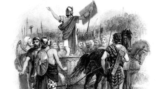 Калгак перед войсками