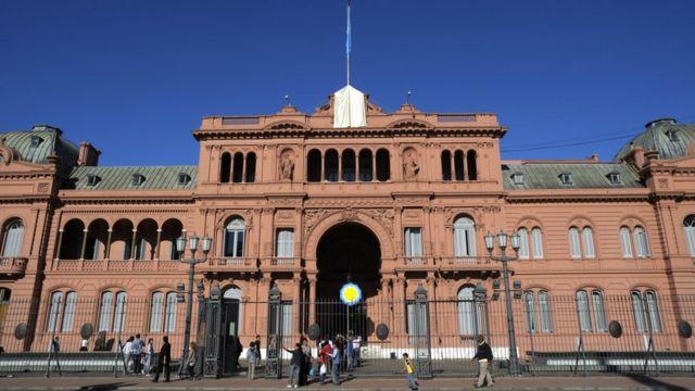 Casa Rosada, sede de gobierno de Argentina.
