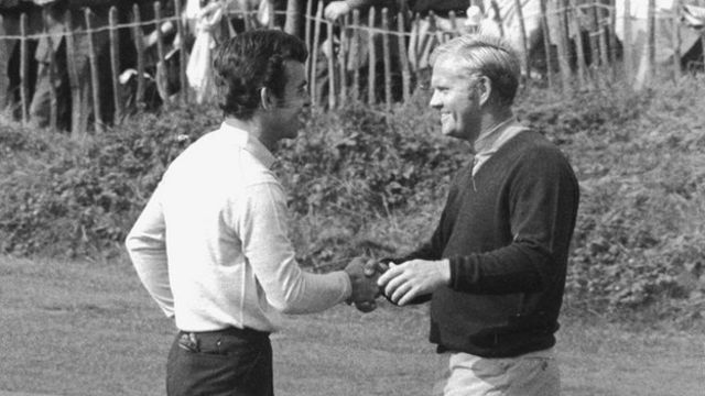 Tony Jacklin y Jack Nicklaus