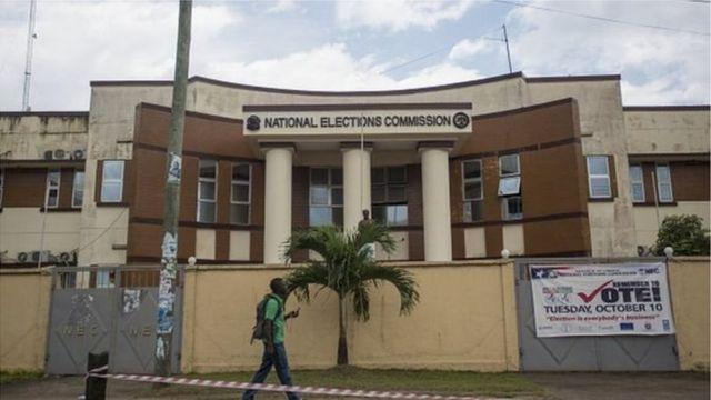 Ofishin hukumar zabe ta Liberiya a birnin Monrovia