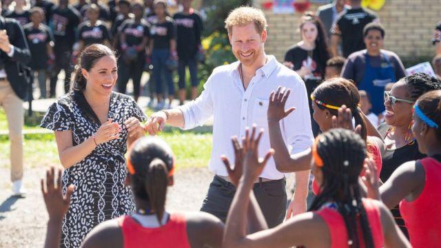 Meghan e Harry na África do Sul