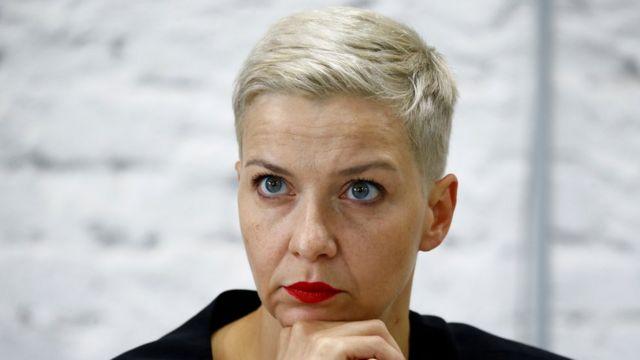 Мария Колесникова на пресс-конференции в августе 2020 года