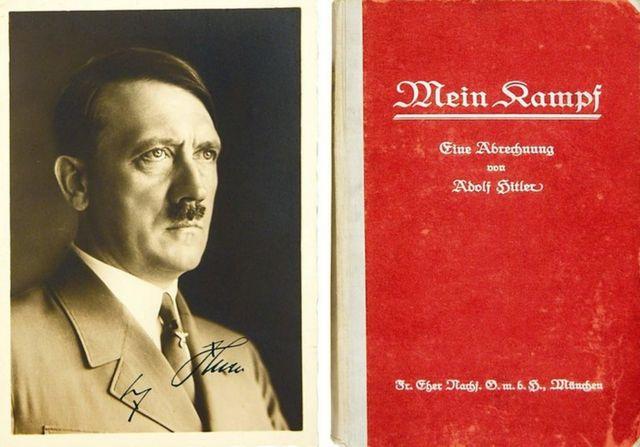 نسخهای از نبرد من با امضای خود هیتلر