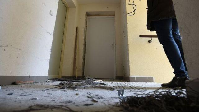 الشقة التي عثر فيها على المتفجرات في مدينة مونبلييه جنوبي فرنسا