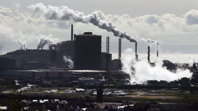 पोर्ट टैलबट में टाटा स्टील का कारखाना (फाइल फोटो)