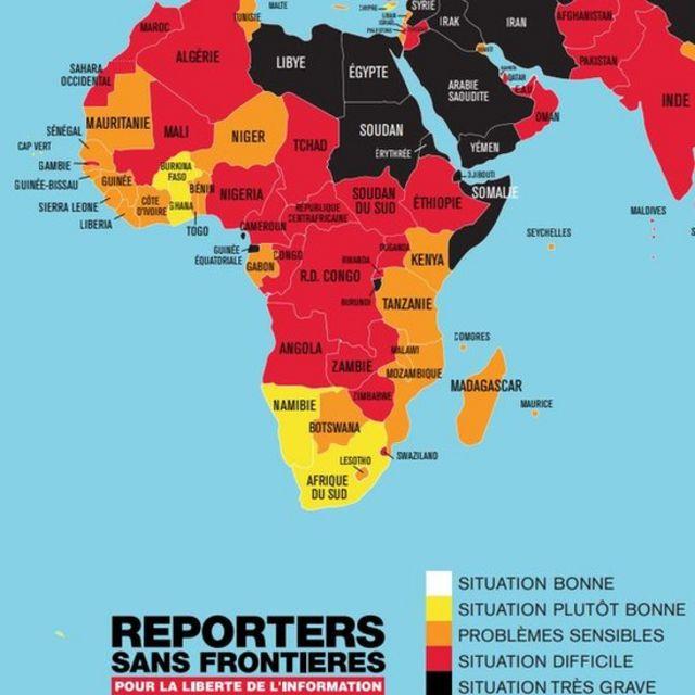 La liberté de la presse en Afrique en 2019