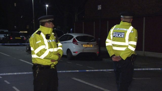 Police cordon near London City Airport