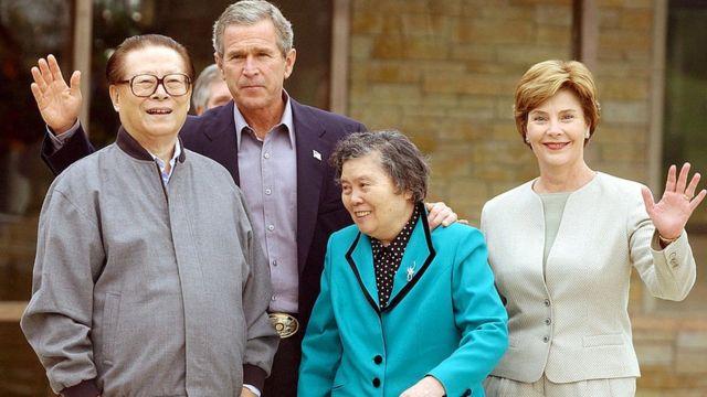 江泽民和布什