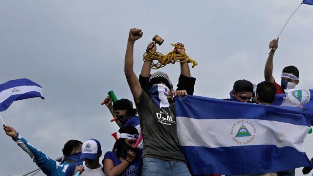 Protestas contra el gobierno el Nicaragua