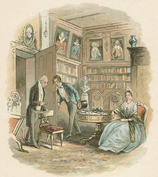 """Escena de """"Casa desolada"""" de Charles Dickens."""