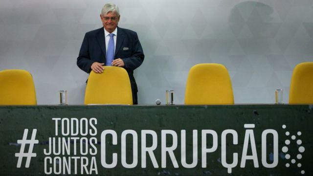 Rodrigo Janot durante el lanzamiento de una campaña contra la corrupción