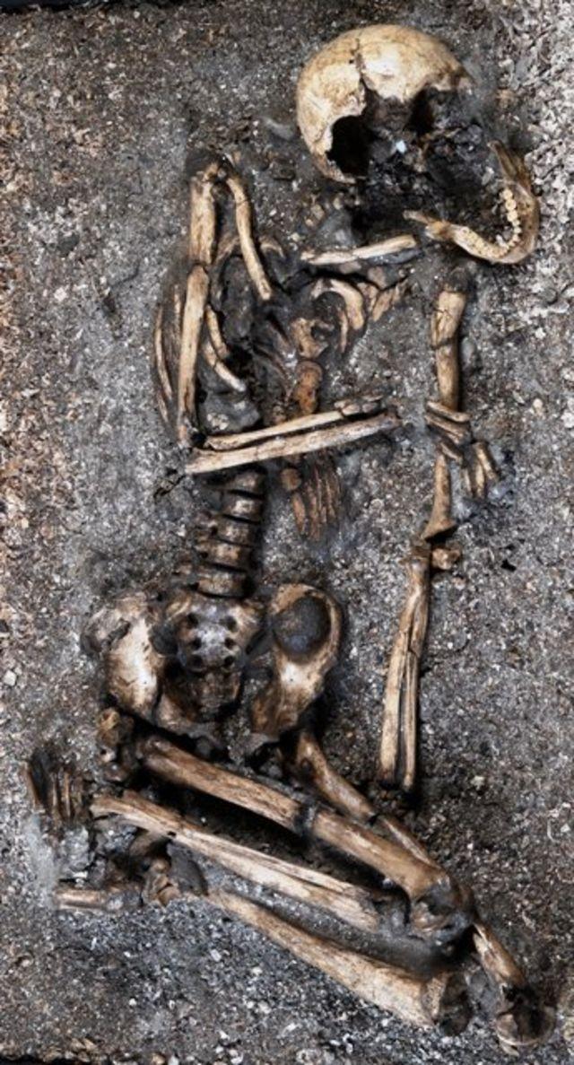 Esqueleto sambaqui