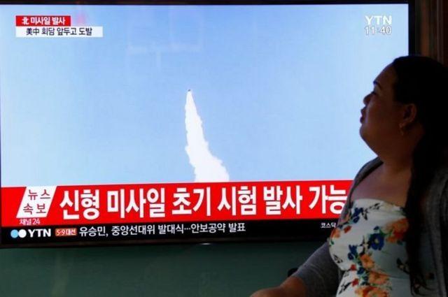 เกาหลีเหนือยิงทดสอบขีปนาวุธลงทะเลญี่ปุ่นสัปดาห์ที่แล้ว ก่อนหน้าการพบหารือของผู้นำจีน-สหรัฐฯ