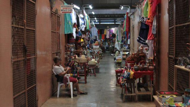Un mercado en Nicaragua