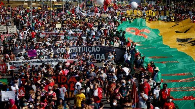 Protesto contra Bolsonaro em Brasília