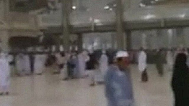 Mobile phone quality image of people in Mosque