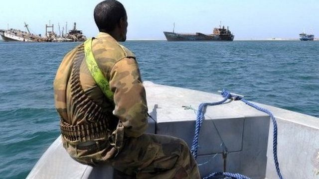Guardacosta en litoral africano, 2011.