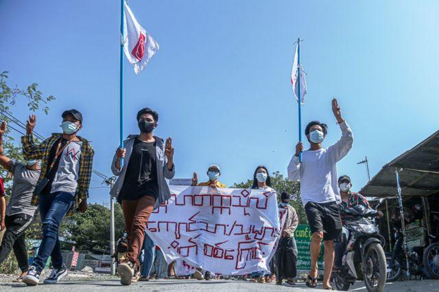 ၂၂၂၂၂ နေ့ သုံးလပြည့် မေလ ၂၂ ရက် မန္တလေးမြို့က ဆန္ဒပြပွဲ
