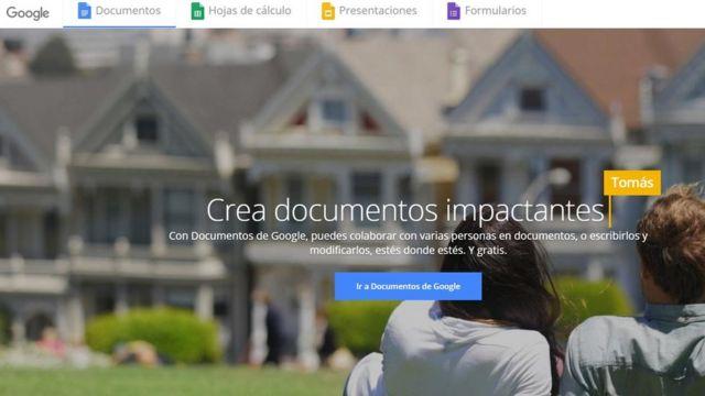 Captura de pantalla de Google Docs