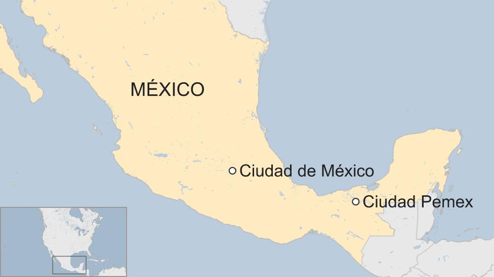 Mapa Ciudad Pemex.