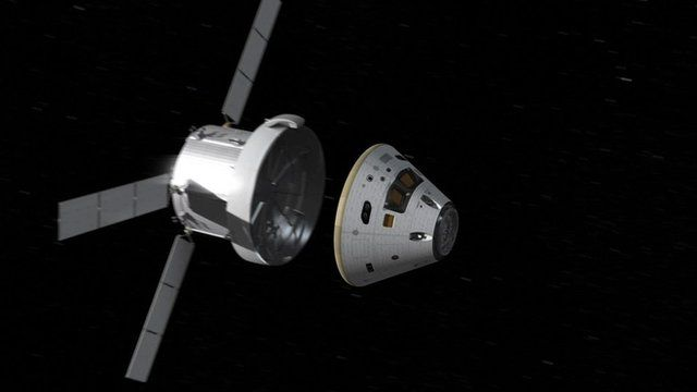 Orion and service module separation