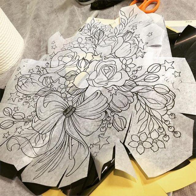 El diseño para el tatuaje de Alison Habbal