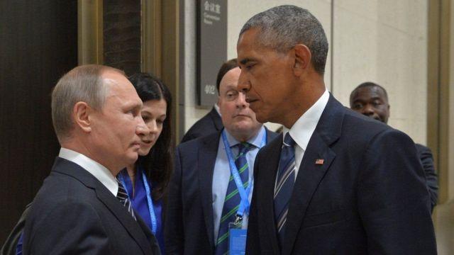 व्लादिमिर पुतिन और बराक ओबामा