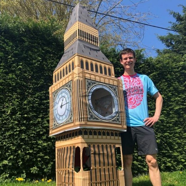 London Marathon: Big Ben runner gets stuck at finish line