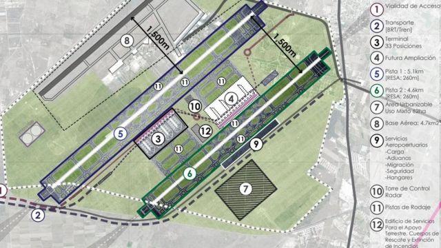 Plan de la ampliación de la Base Militar de Santa Lucía.