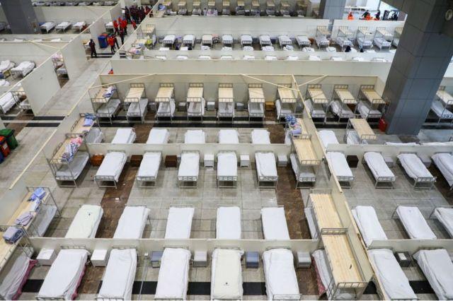 चीन का अस्थायी अस्पताल