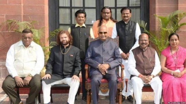 रामनाथ कोविंद के साथ हंस राज हंस