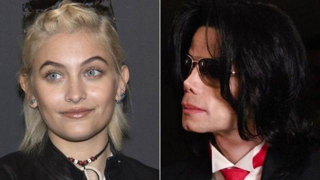Paris Jackson (G) et Michael Jackson