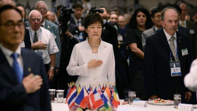 صورة الرئيسة الكورية الجنوبية