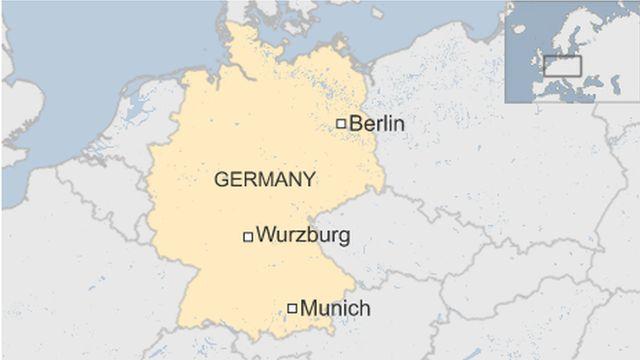 ビュルツブルク(Wurzburg)の位置
