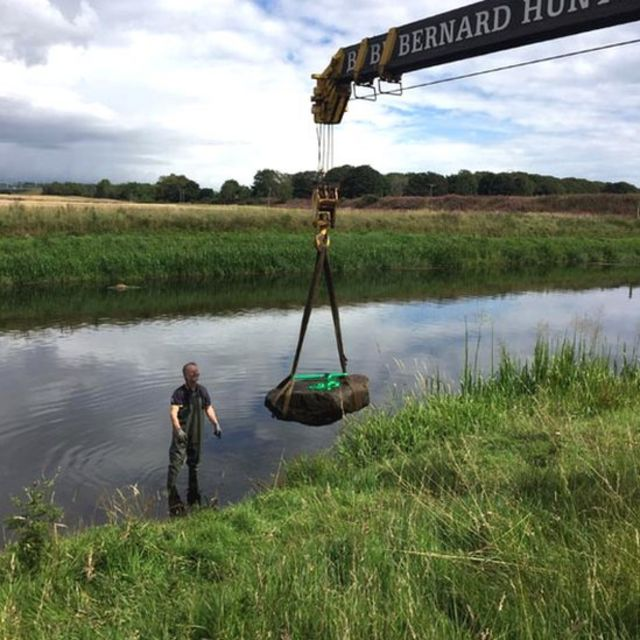 Pictish symbol stone found in River Don in Aberdeen