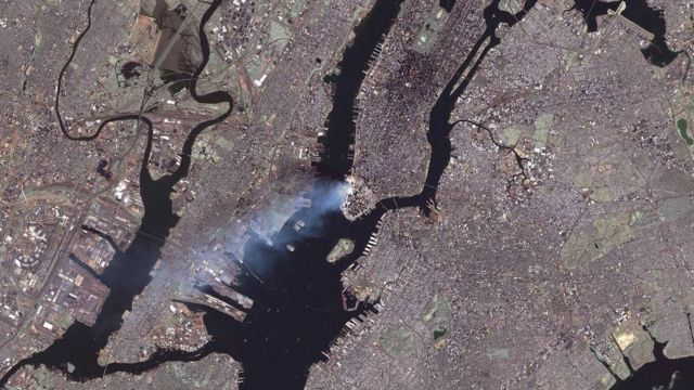 Imagem de Nova Iorque do satélite Landsat 7