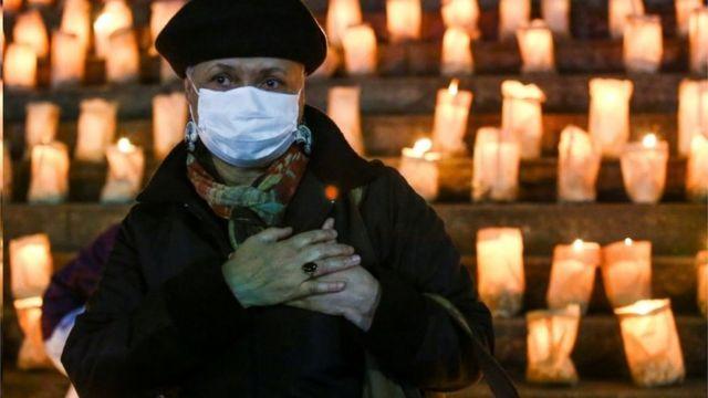 Homenagem aos mais de 500 mil mortos de covid-19 no Brasil