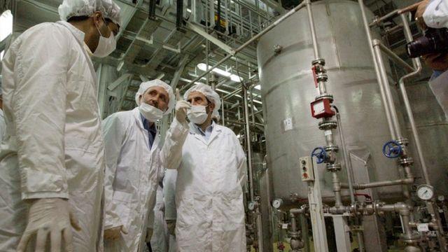 İran'ın nükleer tesislerinden biri