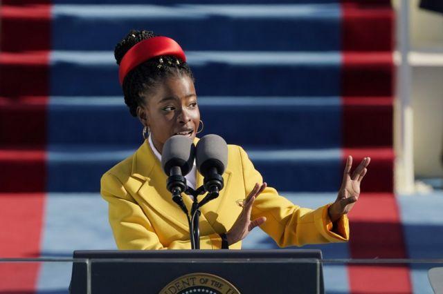 Amanda Gorman reads her poem at President Biden's inauguration