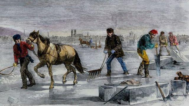 Сборщики льда, Северная Америка, 1850-е годы