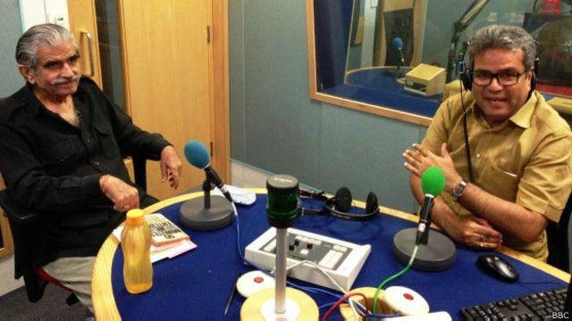 जनरल अशोक मेहता बीबीसी स्टूडियो में रेहान फ़ज़ल के साथ
