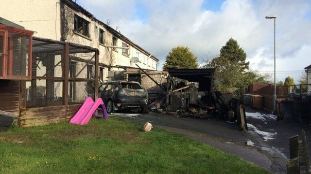 The arson attack took place in the early hours of Wednesday