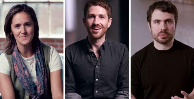 Bailey Richardson (ex Instagram), Tristan Harris (ex Google) y Justin Rosenstein (ex Facebook)