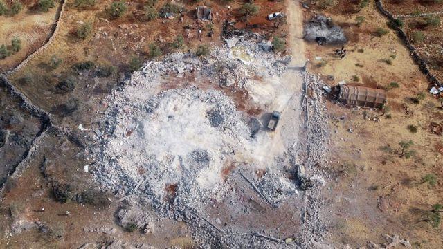 Bağdadi'nin öldürüldüğü bina bombardıman sonucu enkaza dönüştü