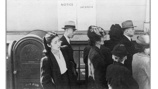 Citizens of Japanese descent in the United States during World War II.