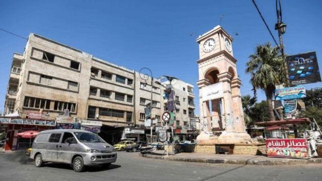 Birnin Idlib a lokacin da 'yan tawayen suka kwace shi a hannun gwamnati a 2015